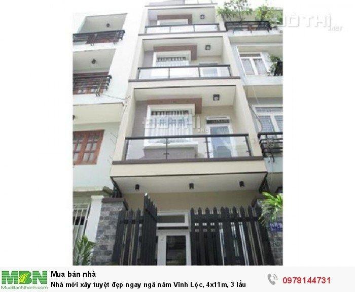 Nhà mới xây tuyệt đẹp ngay ngã năm Vĩnh Lộc, 4x11m, 3 lầu