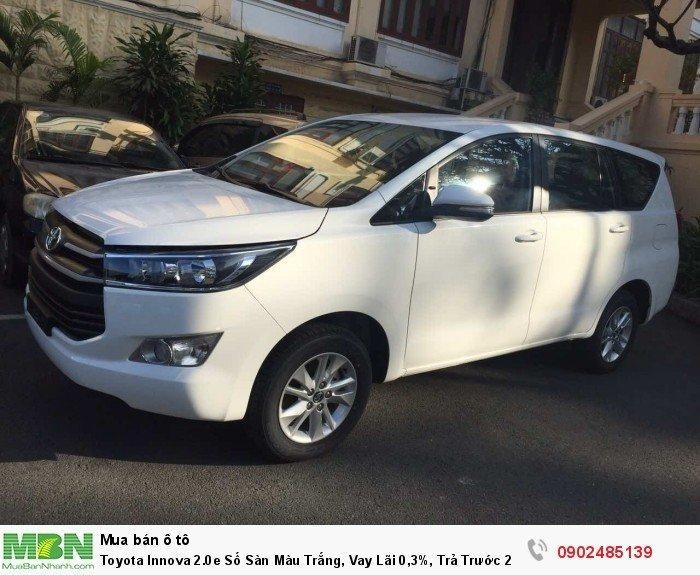 Toyota Innova 2.0E Số Sàn Màu Trắng, Vay Lãi 0,3%, Trả Trước 220 Triệu Giao Xe 3