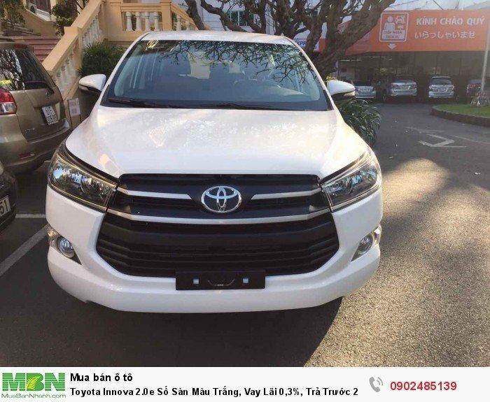 Toyota Innova 2.0E Số Sàn Màu Trắng, Vay Lãi 0,3%, Trả Trước 220 Triệu Giao Xe 4