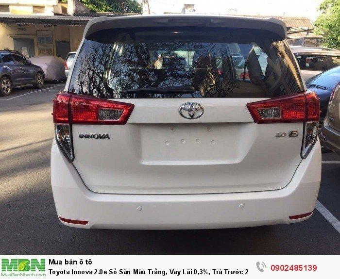 Toyota Innova 2.0E Số Sàn Màu Trắng, Vay Lãi 0,3%, Trả Trước 220 Triệu Giao Xe 5