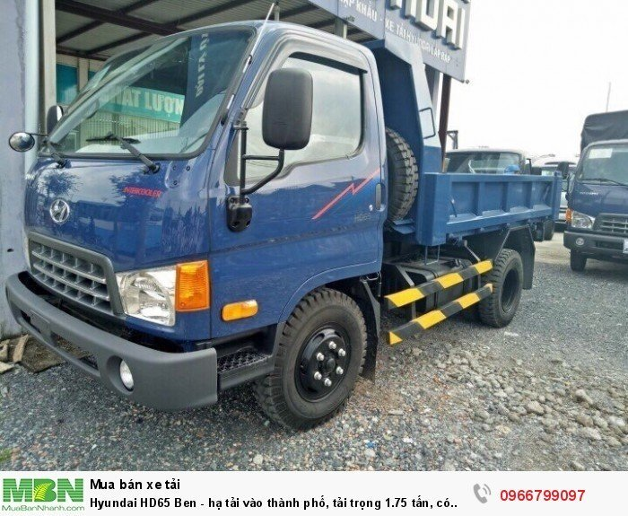 Hyundai HD65 Ben - hạ tải vào thành phố, tải trọng 1.75 tấn, có xe giao ngay 0