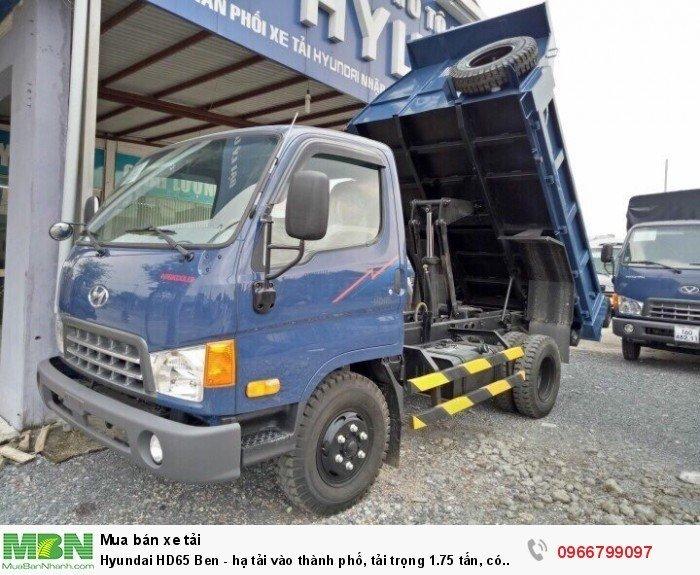 Hyundai HD65 Ben - hạ tải vào thành phố, tải trọng 1.75 tấn, có xe giao ngay