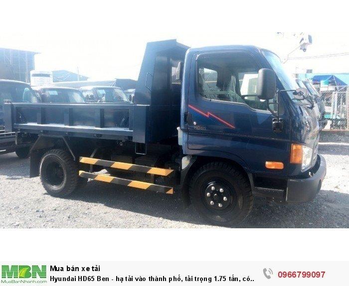 Hyundai HD65 Ben - hạ tải vào thành phố, tải trọng 1.75 tấn, có xe giao ngay 3