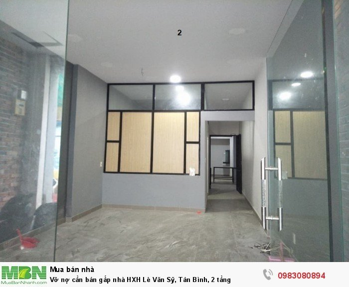 Vỡ nợ cần bán gấp nhà HXH Lê Văn Sỹ, Tân Bình, 2 tầng