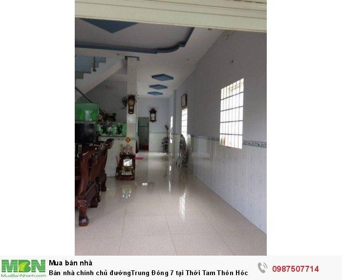 Bán nhà chính chủ đườngTrung Đông 7 tại Thới Tam Thôn Hóc Môn dt:6*20m