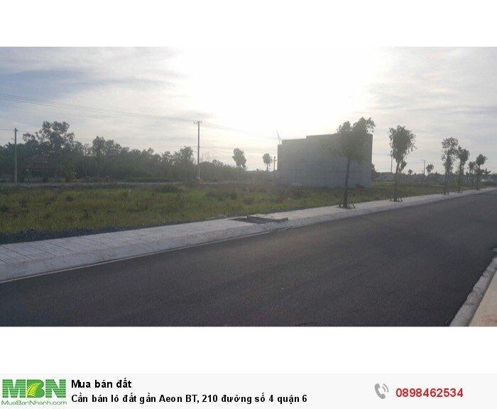 Cần bán lô đất gần Aeon BT, 210 đường số 4 quận 6