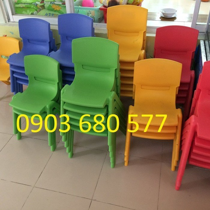 Bán bàn ghế nhựa đúc - cầu trượt mầm non18