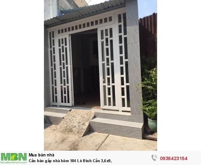 Cần bán gấp nhà  hẻm 184 Lê Đình Cẩn  3,6x9,