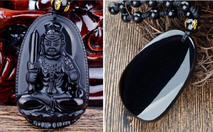 Vòng đá Obsidian Tuổi dậu- Phật hộ mệnh Bất động minh vương3