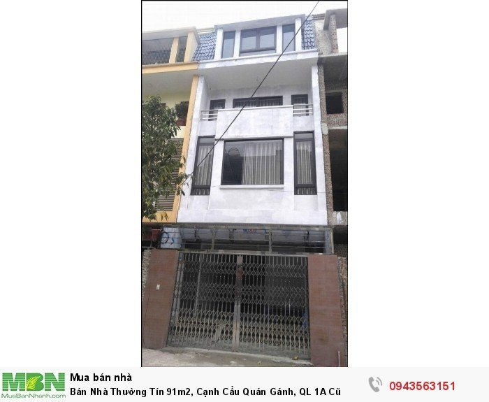 Bán Nhà Thường Tín 91m2, Cạnh Cầu Quán Gánh, QL 1A Cũ