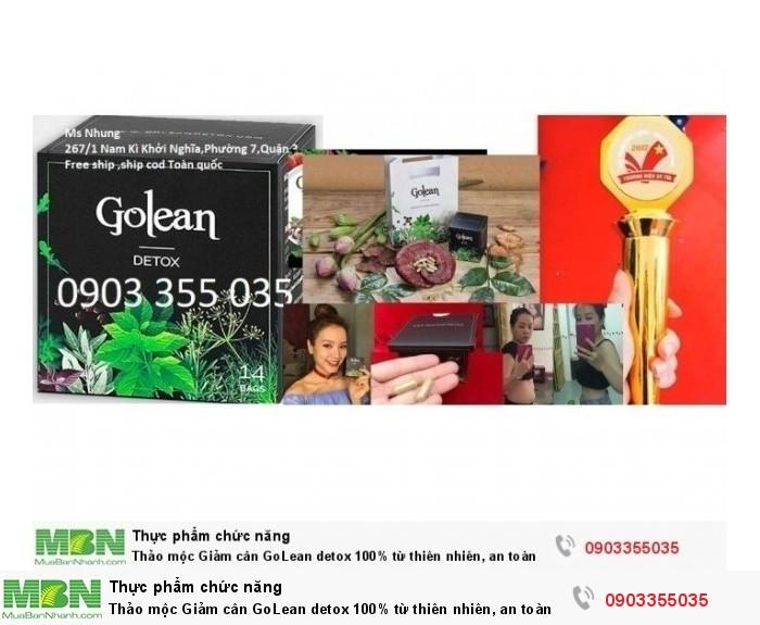 Thảo mộc Giảm cân GoLean detox 100% từ thiên nhiên, an toàn với cả mẹ cho con bú2
