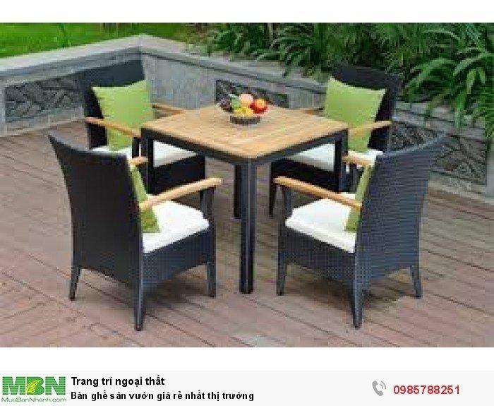 Bàn ghế sân vườn giá rẻ nhất thị trường0