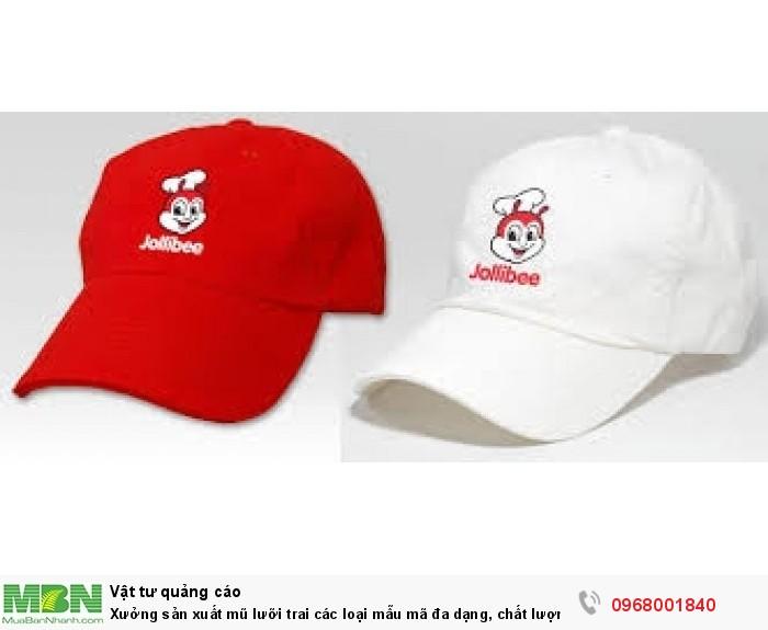 Xưởng sản xuất mũ lưỡi trai các loại mẫu mã đa dạng, chất lượng tốt, giá rẻ3