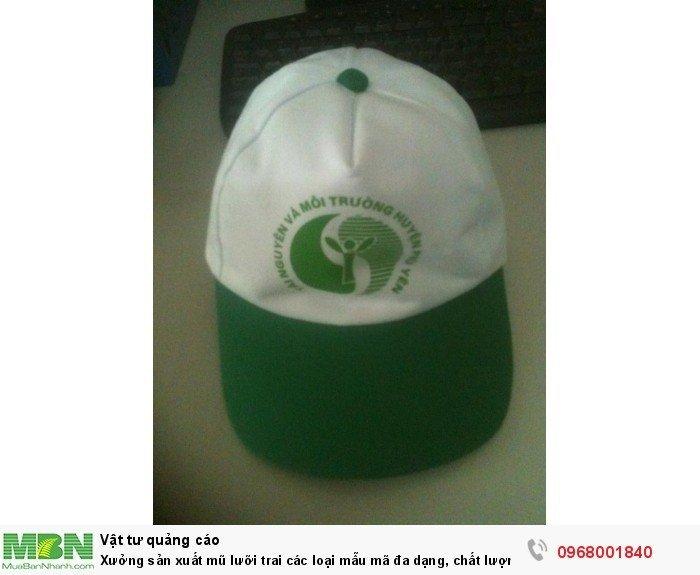 Xưởng sản xuất mũ lưỡi trai các loại mẫu mã đa dạng, chất lượng tốt, giá rẻ4