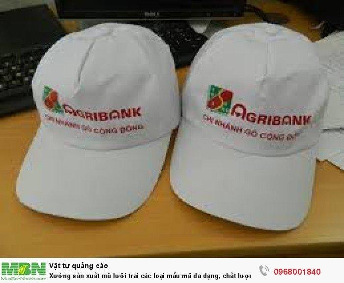 Xưởng sản xuất mũ lưỡi trai các loại mẫu mã đa dạng, chất lượng tốt, giá rẻ7