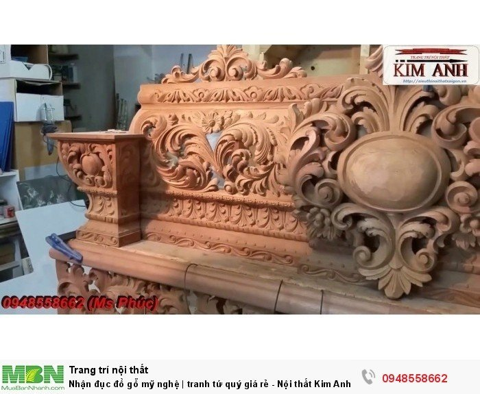 Nhận đục đồ gỗ mỹ nghệ | tranh tứ quý giá rẻ - Nội thất Kim Anh sài gòn2