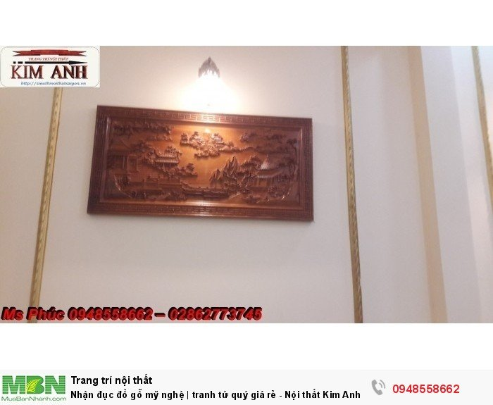 Nhận đục đồ gỗ mỹ nghệ | tranh tứ quý giá rẻ - Nội thất Kim Anh sài gòn14