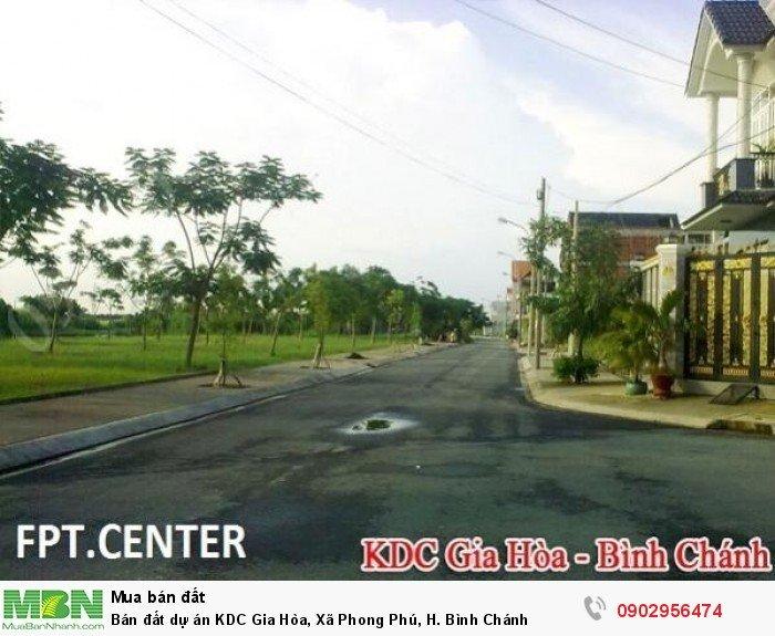 Bán đất dự án KDC Gia Hòa, Xã Phong Phú, H. Bình Chánh