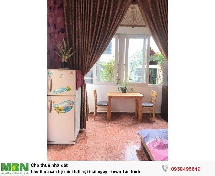 Cho thuê căn hộ mini full nội thất ngay Etown Tân Bình