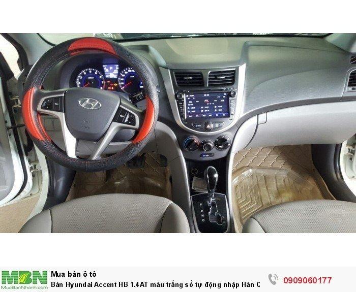 Bán Hyundai Accent HB 1.4AT màu trắng số tự động nhập Hàn Quốc 2014 5 cửa 0