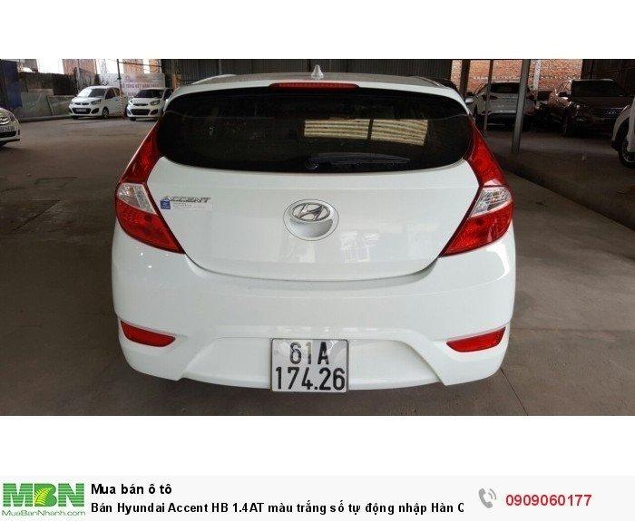Bán Hyundai Accent HB 1.4AT màu trắng số tự động nhập Hàn Quốc 2014 5 cửa 2