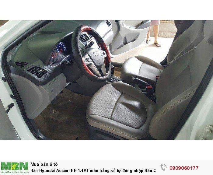 Bán Hyundai Accent HB 1.4AT màu trắng số tự động nhập Hàn Quốc 2014 5 cửa 4
