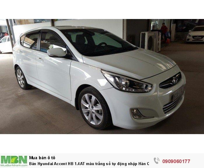 Bán Hyundai Accent HB 1.4AT màu trắng số tự động nhập Hàn Quốc 2014 5 cửa 6