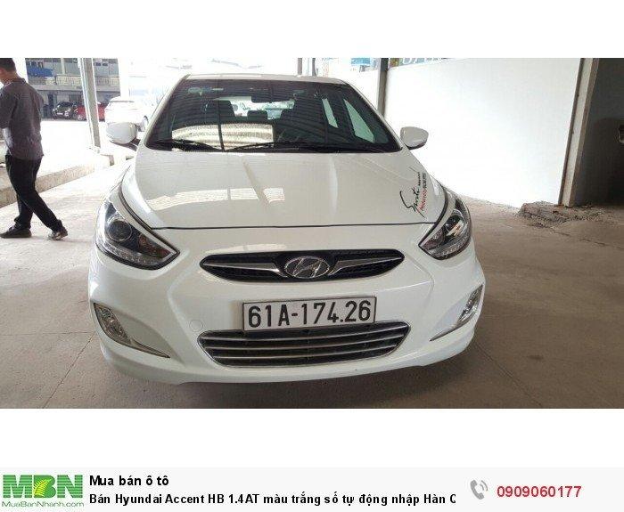 Bán Hyundai Accent HB 1.4AT màu trắng số tự động nhập Hàn Quốc 2014 5 cửa 7