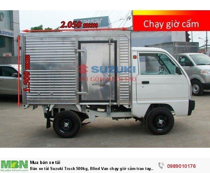 Bán xe tải Suzuki Truck 500kg, Blind Van chạy giờ cấm trao tay  100% lệ phí trước bạ