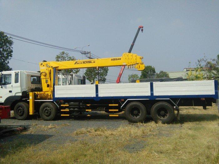 Xe Hd320/380 PS gắn Cẩu 10 tấn,5 khúc