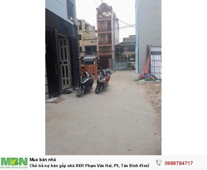 Chủ trả nợ bán gấp nhà HXH Phạm Văn Hai, P5, Tân Bình 45m2