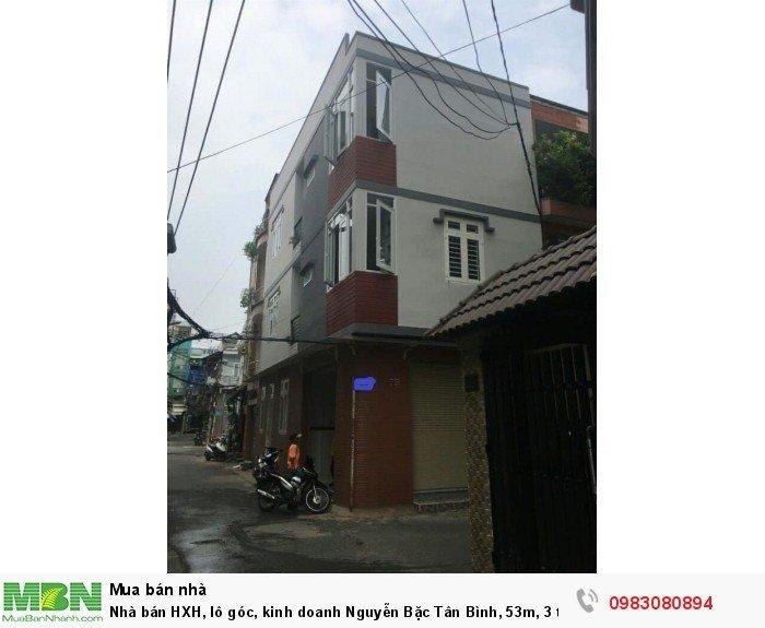 Nhà bán HXH, lô góc, kinh doanh Nguyễn Bặc Tân Bình, 53m, 3 tầng