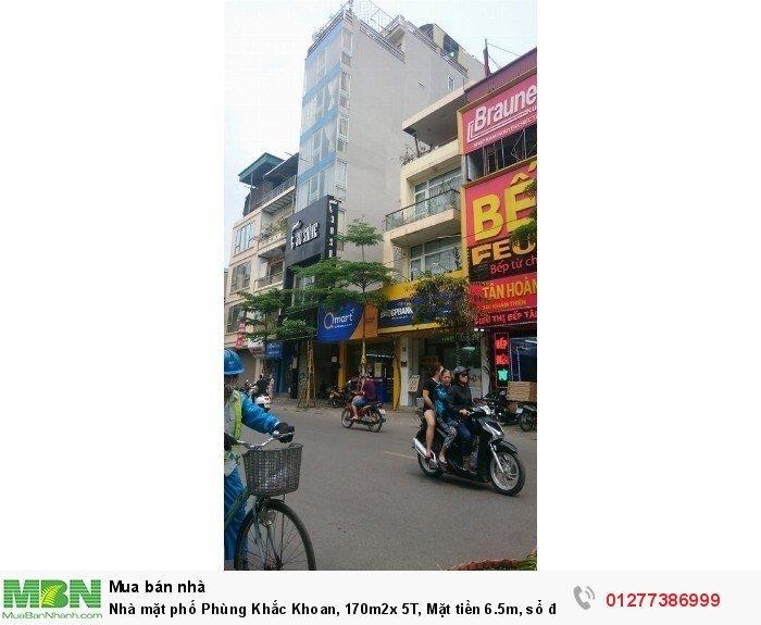 Nhà mặt phố Phùng Khắc Khoan, 170m2x 5T, Mặt tiền 6.5m, sổ đẹp,