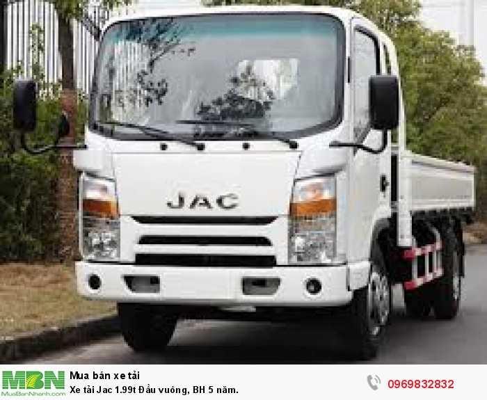 Báo giá xe tải Jac 1,9T N200, xe tải Jac 1t9 đầu vuông bảo hành 5 năm