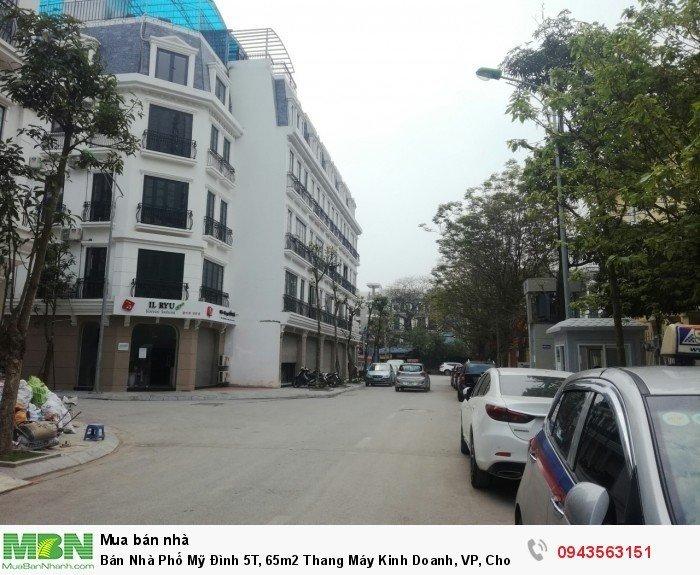 Bán Nhà Phố Mỹ Đình 5T, 65m2 Thang Máy Kinh Doanh, VP, Cho Thuê