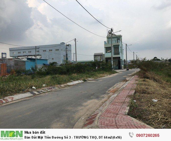 Bán Đất Mặt Tiền Đường Số 3 - TRƯỜNG THỌ, DT 64m2(4x16)