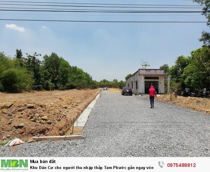 Khu Dân Cư cho người thu nhập thấp Tam Phước gần ngay vòng xoay 60m.