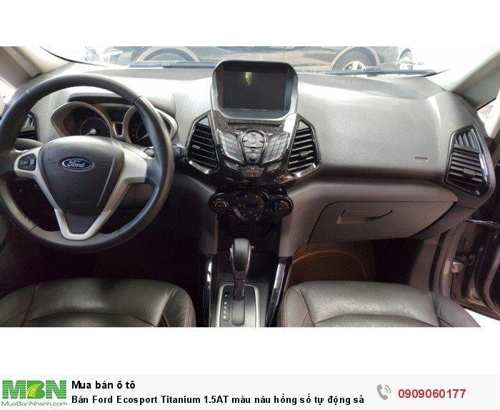 Bán Ford Ecosport Titanium 1.5AT màu nâu hồng số tự động sản xuất 2015 biển SG