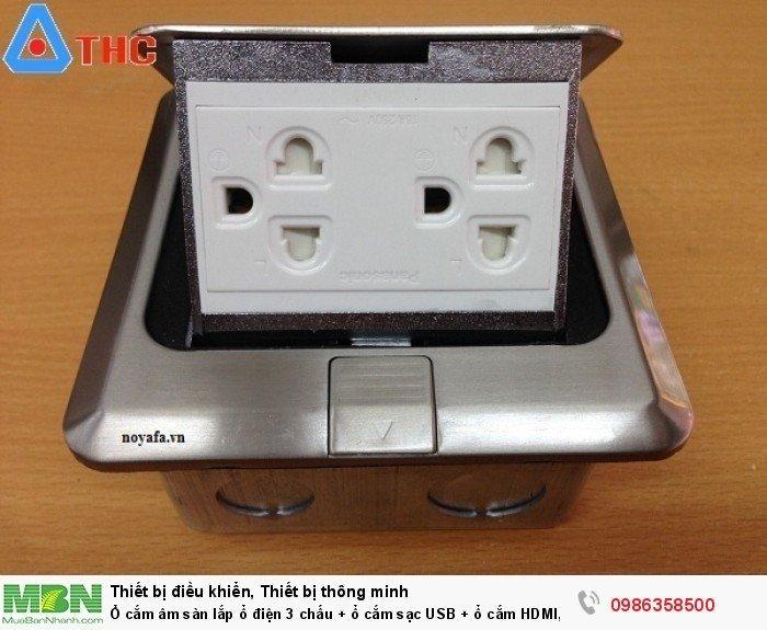 Ổ cắm điện âm sàn SINO AMIGO SPU-1SE màu Bạc2