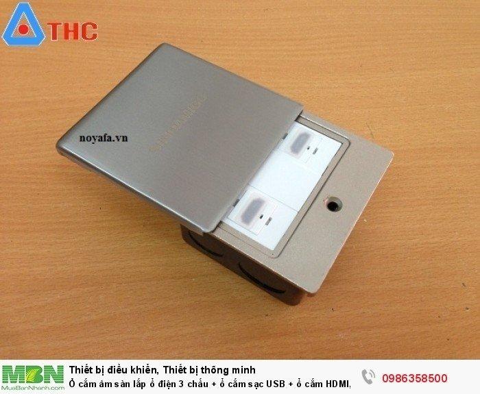 Ổ cắm âm sàn nắp trượt Sino Amigo lắp 2 nhân HDMI5