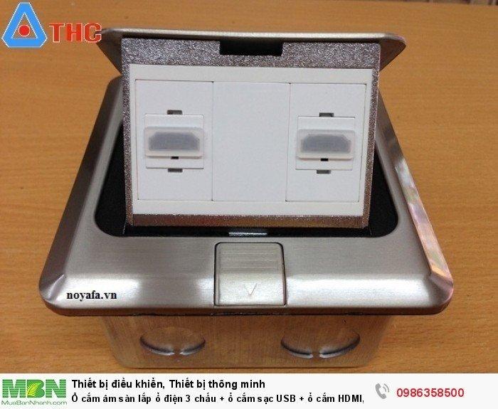 Ổ cắm âm sàn Sino Amigo lắp 2 nhân HDMI Màu Bạc6