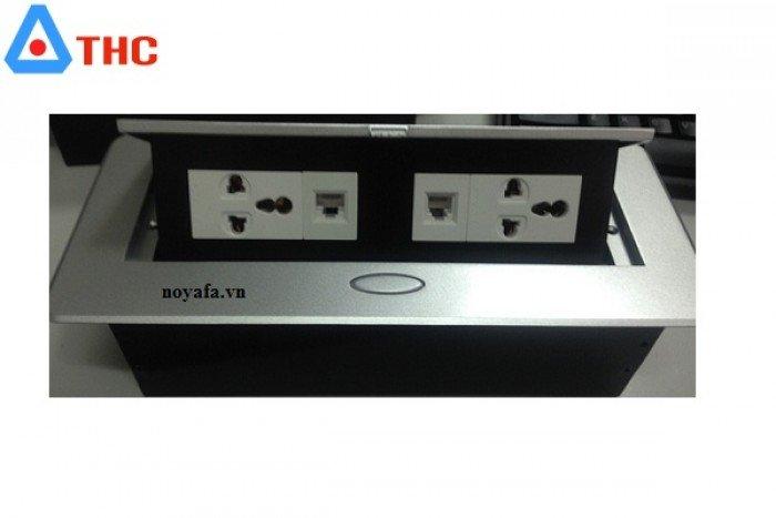 Bộ ổ cắm âm bàn sino amigo lắp nhân điện đơn 3 chấu, mạng, thoại2