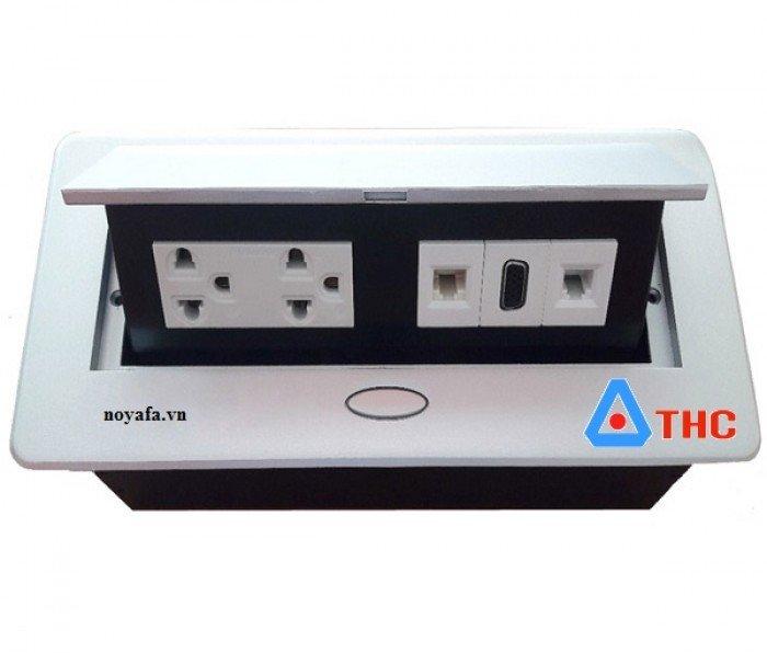 Bộ ổ cắm âm bàn sino amigo lắp nhân điện đôi 3 chấu, VGA, mạng, thoại0