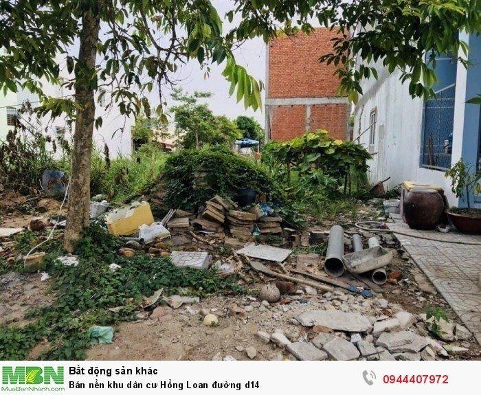 Bán nền khu dân cư Hồng Loan đường d14