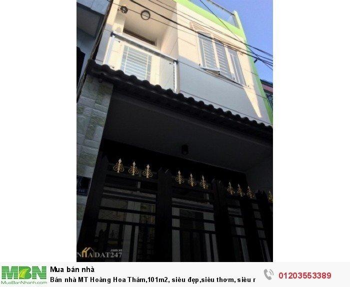 Bán nhà MT Hoàng Hoa Thám,101m2, siêu đẹp,siêu thơm, siêu rẻ 8.9 tỷ