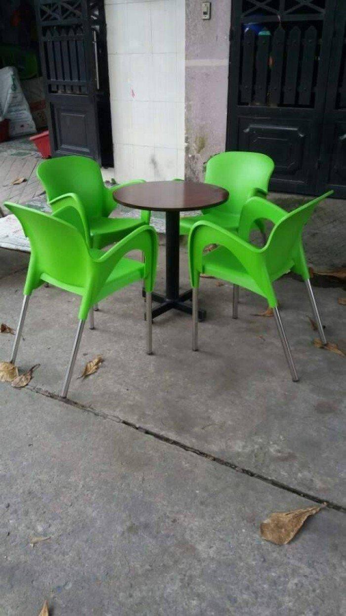 bàn ghế cafe nhựa đúc giá rẻ nhất11