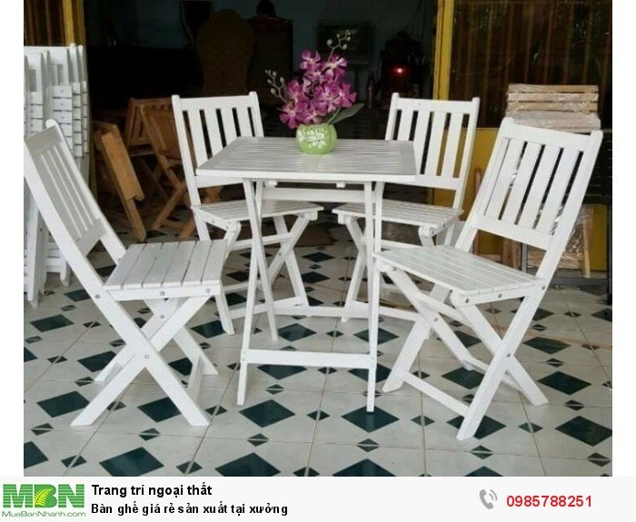 Bàn ghế giá rẻ sản xuất tại xưởng2