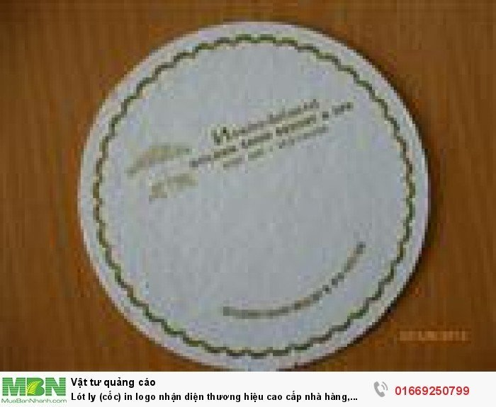Lót ly (cốc) in logo nhận diện thương hiệu cao cấp nhà hàng, khách sạn, resort3