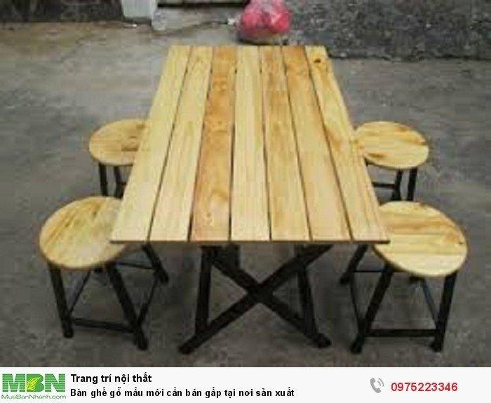 Thanh lý bàn ghế gỗ mầu mới cần bán gấp tại nơi sản xuất..0
