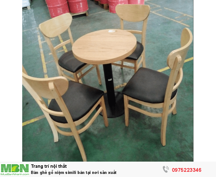 Bàn ghế gỗ niệm simili bán tại nơi sản xuất0